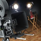 Camera and Directors Chair
